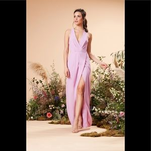 Dress the population Ariel racerback wrap dress